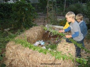 kids building garden