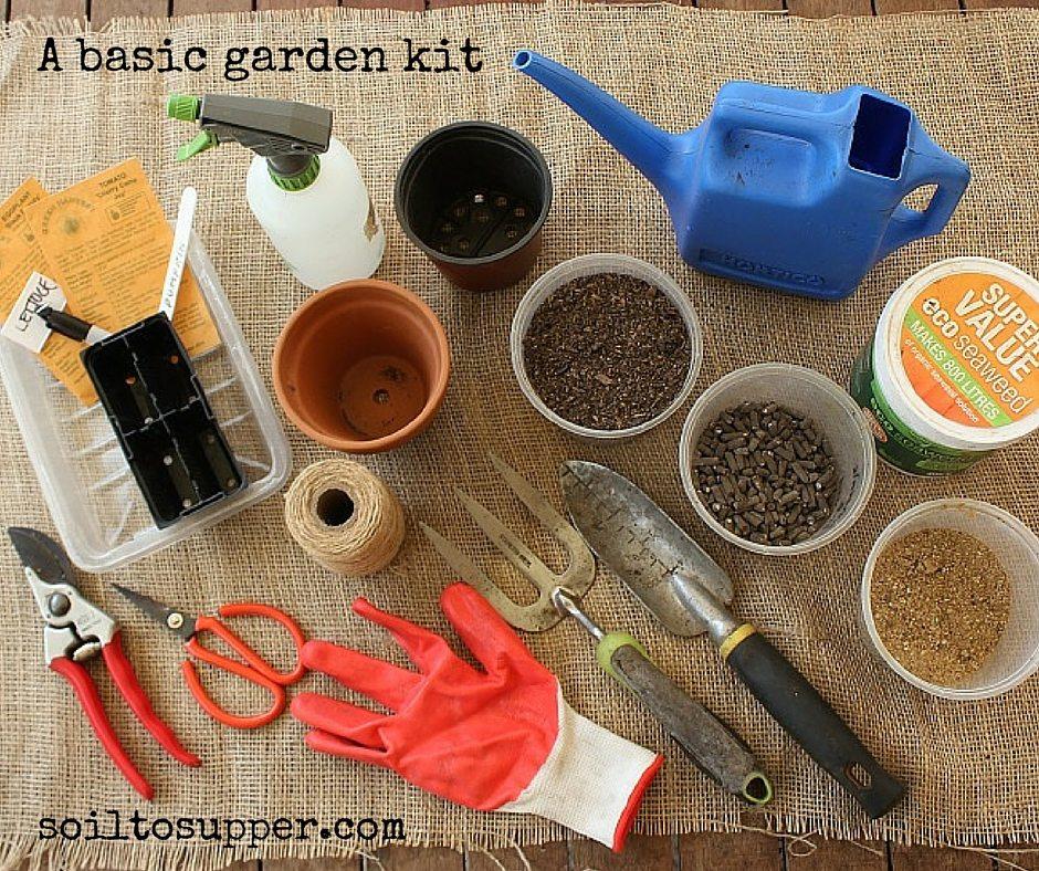 A basic garden kit